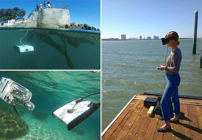 Drone à prova d'água promete revolucionar a fotografia submarina