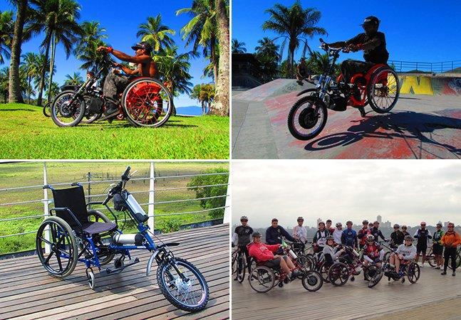 Engenheiro brasileiro cria acessório que transforma cadeira de rodas em triciclo elétrico