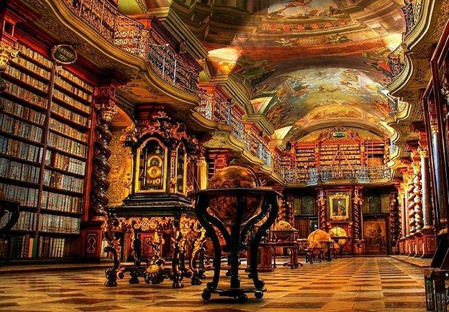 A livraria na República Tcheca que foi considerada a mais bonita do mundo
