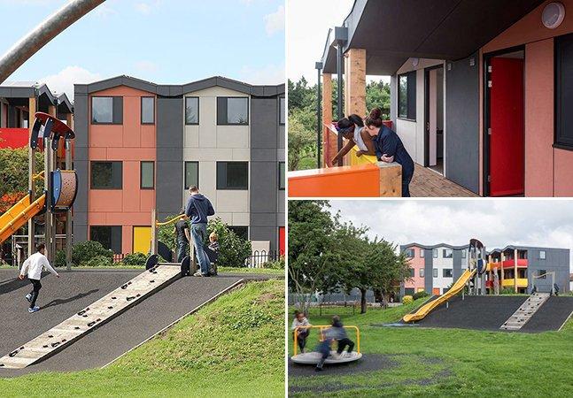Londres aposta em apartamentos empilháveis e coloridos para ajudar pessoas de baixa renda