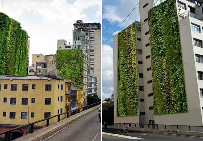 Minhocão em SP vai ganhar jardim vertical permanente