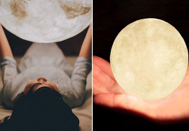 Designers criam luminária incrível em formato de lua cheia