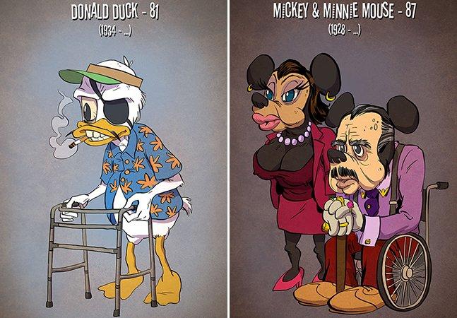 Série de ilustrações mostra como seriam personagens de desenhos animados em suas idades reais