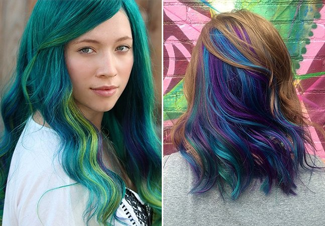 Cabelo de mulher inspirado em penas de pavão é a nova moda no Instagram