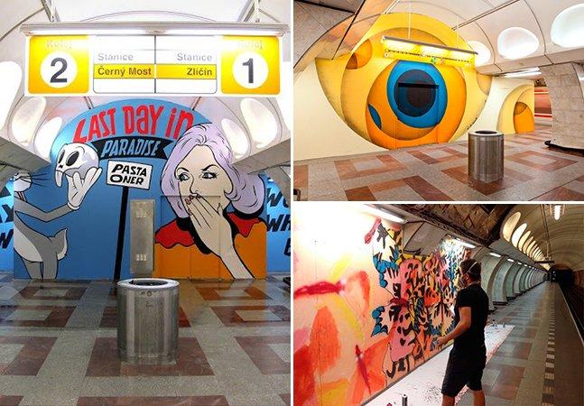 Para combater a pichação, Praga incentiva o graffiti nas estações de metrô