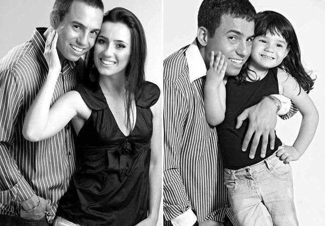 Pai brasileiro recria ensaio fotográfico com a filha após a morte da esposa/mãe