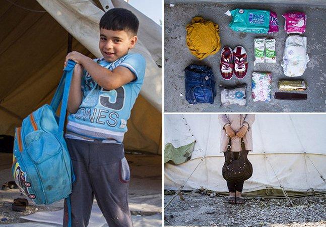 Série de fotos emocionante retrata o que refugiados estão levando consigo de suas casas