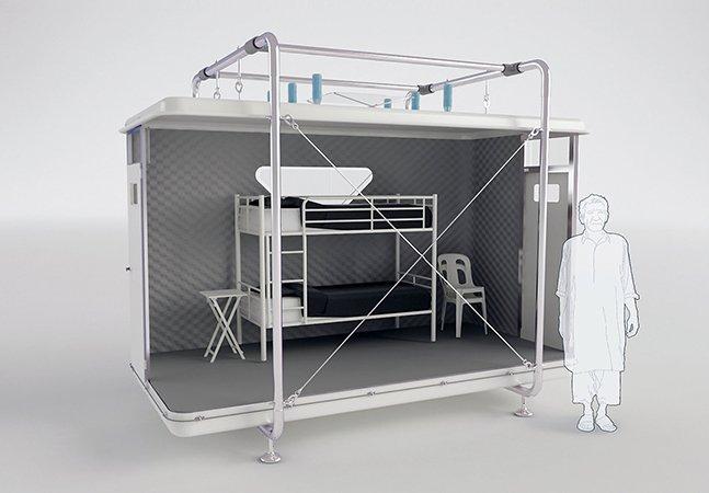 Designer cria abrigo que pode ser montado em 1 hora e acolher vítimas de desastres durante 4 meses