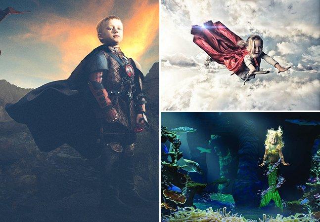Fotógrafo usa criatividade (e muito amor!) para tornar reais os sonhos de crianças doentes