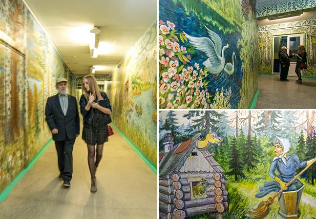 Aos 90 anos, ele decidiu transformar uma escola em uma incrível galeria de arte