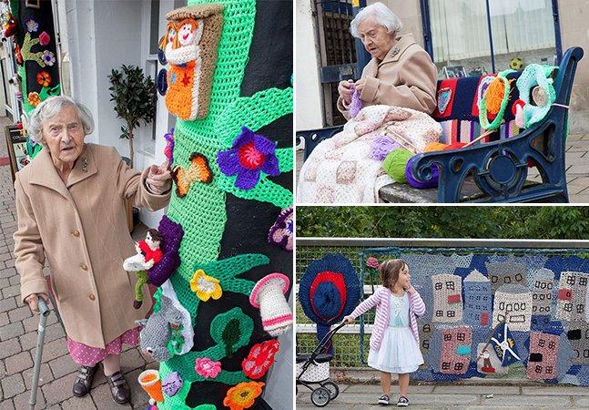 Nunca é tarde: conheça a artista de rua de 104 anos que está mudando a cara de sua cidade