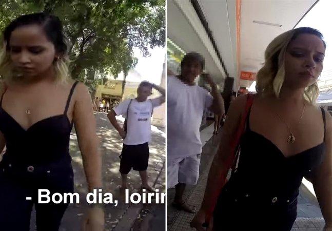 Jornalista brasileira registra em câmera escondida o machismo que mulheres enfrentam nas ruas