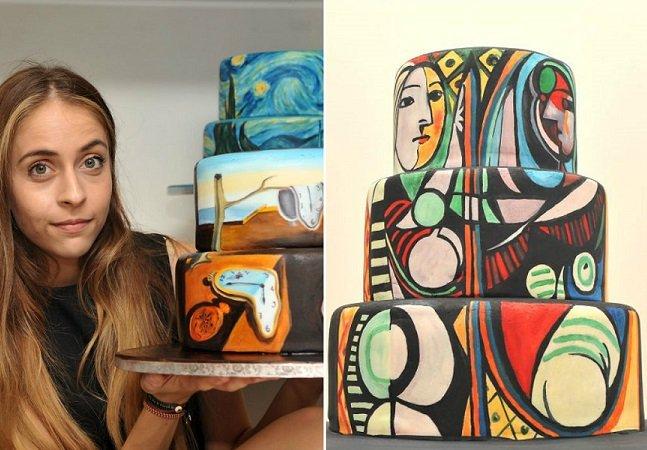 Artista recria obras de arte famosas em seus bolos