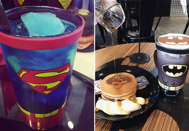 Os cafés inspirados em super-heróis onde até a comida é personalizada para os fãs