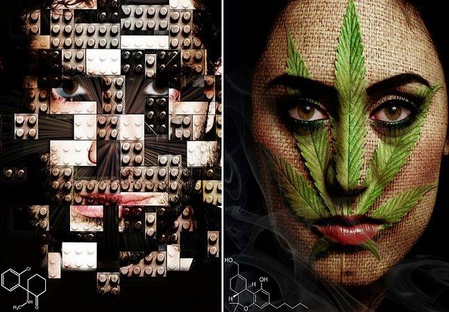 Fotógrafo retrata usuários de diferentes drogas pra mostrar como elas afetam seus cérebros