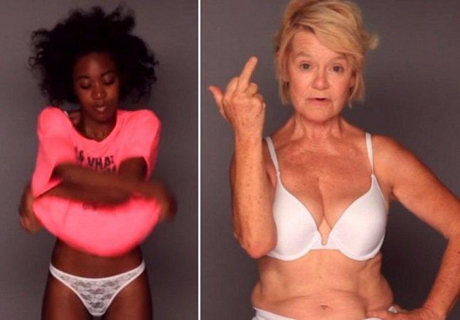 Mulheres tiram a roupa em vídeo impactante para combater a ditadura da beleza em comerciais