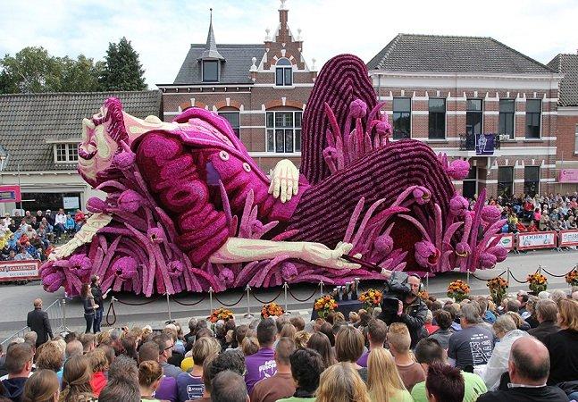 Festival das flores na Holanda homenageia Van Gogh