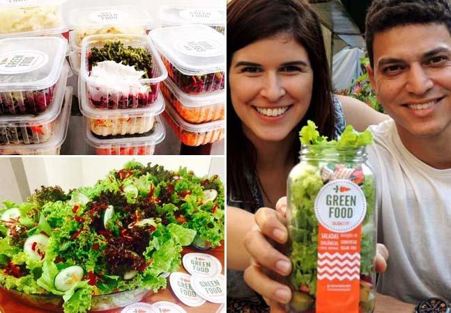 Casal faz sucesso vendendo saladas em potes de vidro e refeições saudáveis no RJ