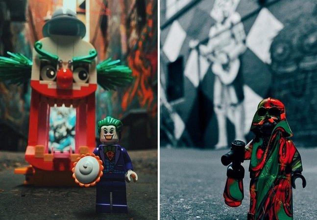 Artista transforma as ruas da sua cidade com divertidas figuras de LEGO