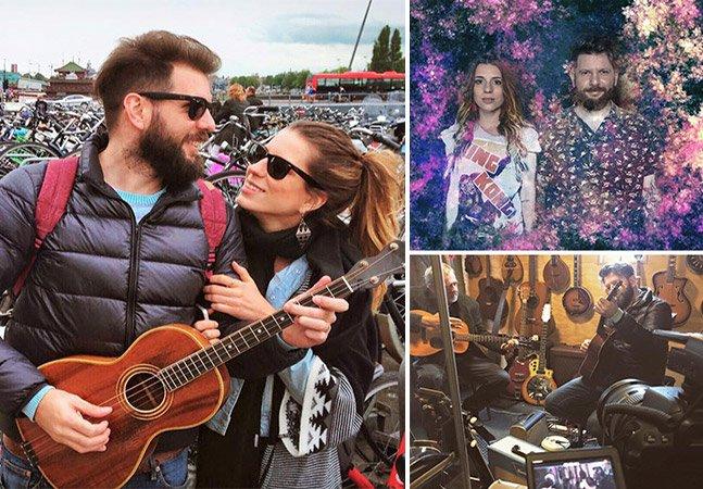 Casal brasileiro viaja o mundo criando canções inéditas baseadas em cada país que visita