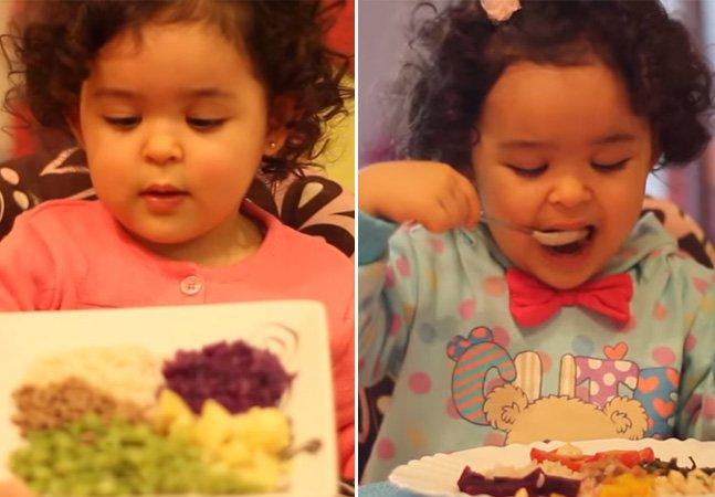 Menina de 2 anos faz sucesso no YouTube com vídeos encantadores sobre alimentação saudável