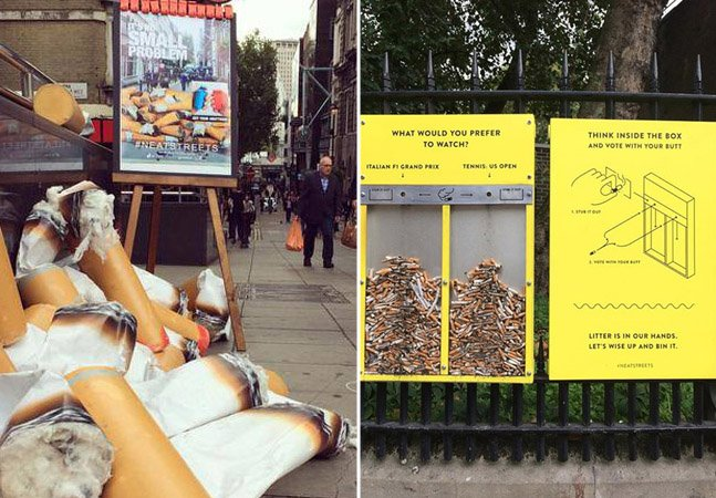 Projeto usa ideias criativas para ajudar a limpar as ruas de Londres
