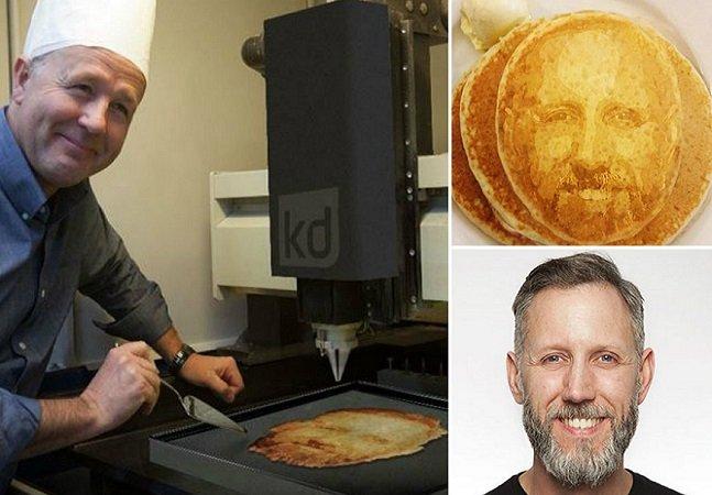 Impressora 3D usa sistema de reconhecimento facial para imprimir seu retrato em panquecas
