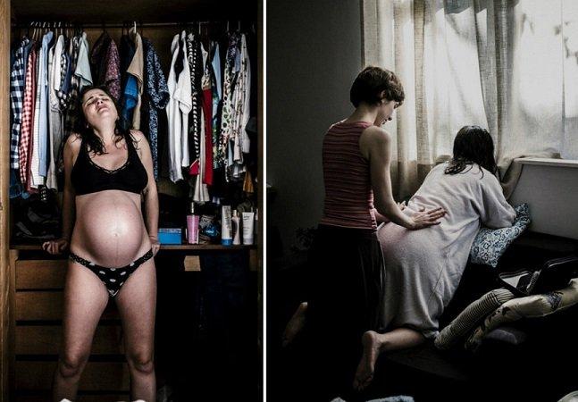 Pai brasileiro registra os belos e intensos momentos de um parto natural em casa