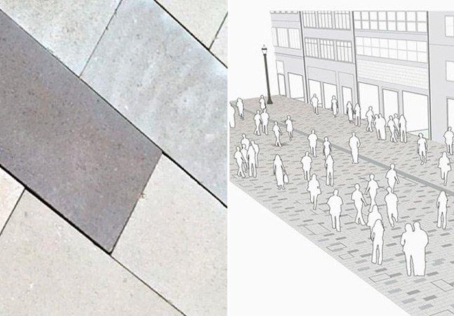 Piso removível e autolimpante fará parte de calçadão no centro de São Paulo