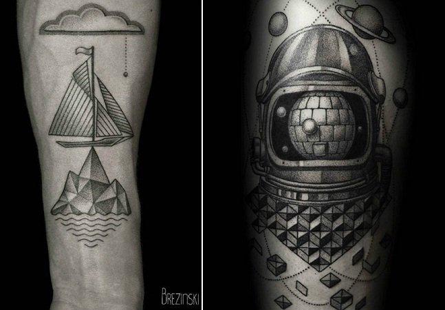 Artista russo usa técnica do pontilhismo para criar tatuagens cheias de detalhe