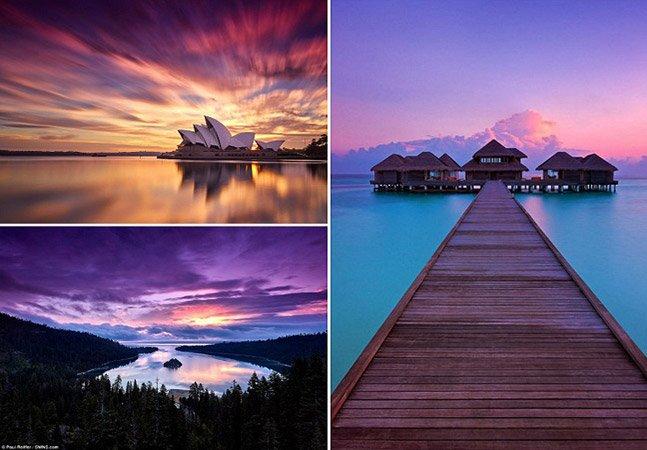 Fotógrafo corre o mundo pra registrar o nascer e o pôr-do-sol e o resultado é apaixonante