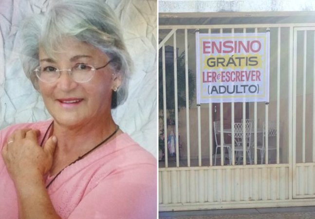 Professora brasileira aposentada usa tempo livre para alfabetizar adultos de graça