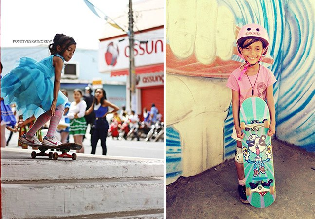 Conheça a brasileira skatista de 7 anos que está conquistando a internet