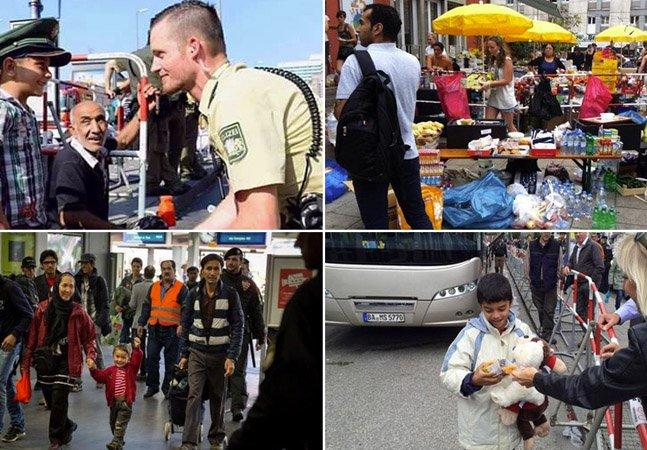 Estas imagens de europeus recebendo refugiados prometem restaurar sua fé no ser humano