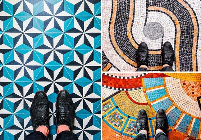 Fotógrafo clica imagens geométricas do chão de Paris para nos lembrar de olhar também para baixo