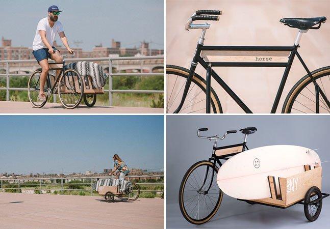 Bicicleta feita especialmente para surfistas dá uma mãozinha na hora de carregar a prancha
