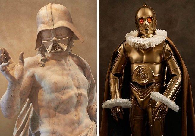 Exposição reúne 150 obras de artistas de todo mundo em homenagem à saga Star Wars