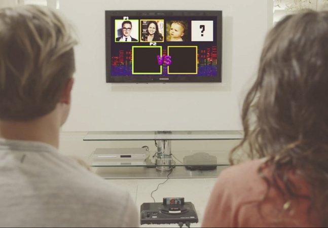 Casal usa videogame para anunciar gravidez de forma criativa