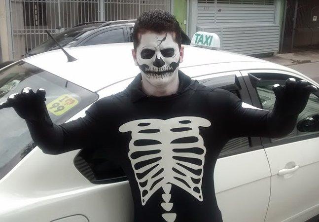 """App celebra o Halloween oferecendo corridas de táxis dirigidos por """"monstros"""" em cidades brasileiras"""