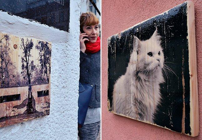 Fotógrafa pendura quadros nas ruas para que qualquer pessoa possa levá-los e tornar a arte acessível
