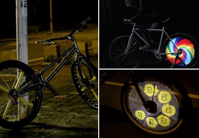 Gadget permite customizar as rodas de sua bicicleta com incríveis animações em LED