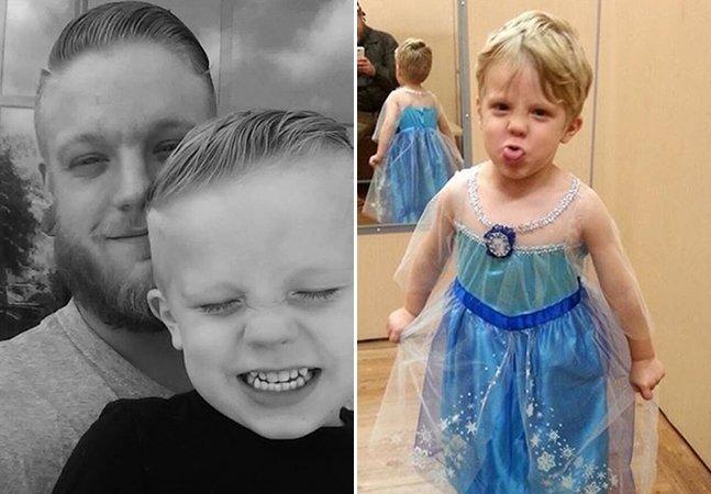 Pai tem a melhor reação quando seu filho diz que quer se vestir de princesa no Halloween
