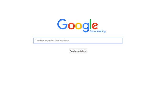 """Conheça a """"versão especial"""" do Google que promete prever seu futuro"""