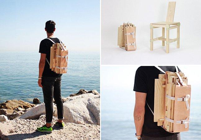 Designer espanhol projeta cadeira portátil para nômades