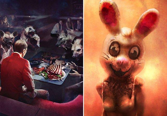 O artista que transforma seus pesadelos em incríveis (e inquietantes!) ilustrações