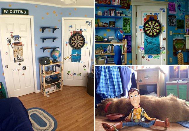 Fãs do clássico Toy Story recriam com realismo e detalhe o quarto do protagonista do filme