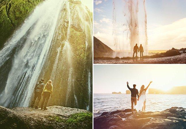 Este casal trocou a cerimônia do casamento por uma pequena celebração em paisagens incríveis