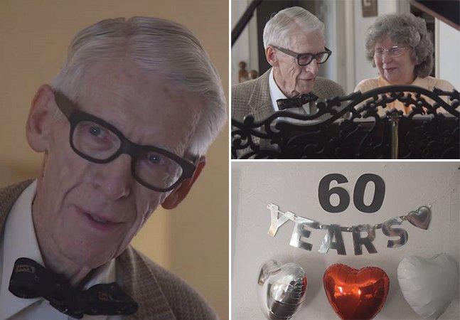 """Casal de 80 anos comemora os 60 de casamento recriando cenas emocionantes do filme """"Up"""""""
