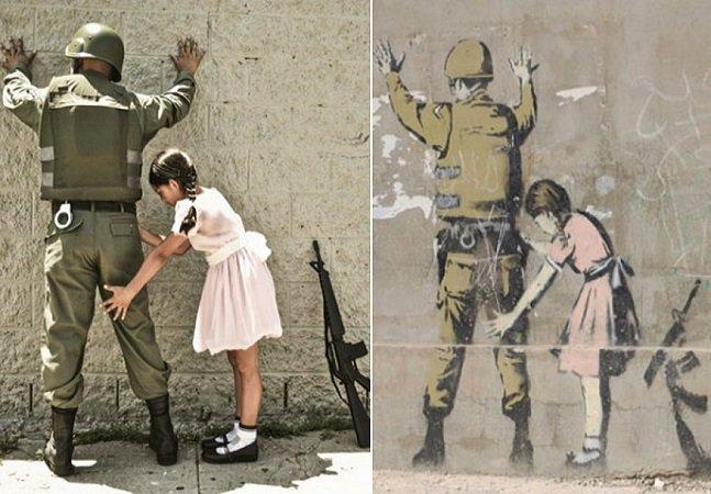 Fotógrafo recria obras famosas de Banksy com cliques incríveis