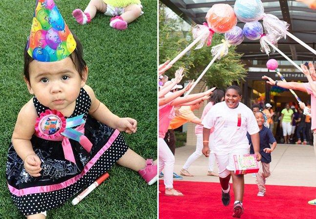 Conheça a mulher que se dedica a dar festas de aniversário para crianças desabrigadas